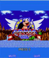 Sonic the Hedgehog Part 1 J2ME Animated main menu 1