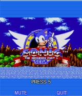 Sonic the Hedgehog Part 1 J2ME Animated main menu 2
