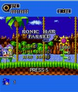 Sonic the Hedgehog Part 1 J2ME Level passed.