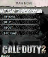 Call of Duty 2 J2ME Main menu