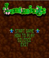 Lemmings J2ME Main menu