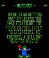 Lemmings J2ME Blocker description