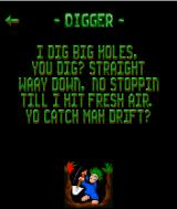 Lemmings J2ME Digger description