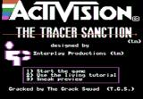 The Tracer Sanction Apple II title screen
