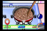 Cooking Mama: Cook Off Wii Swirling the Wiimote to stir.