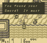 The Legend of Zelda: Link's Awakening Game Boy You found your sword!
