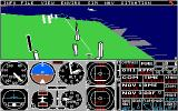 Flight Simulator II Amiga Flying over San Francisco.