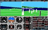 Flight Simulator II Amiga Using a second window for another view.