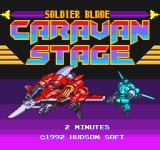 Soldier Blade TurboGrafx-16 Opening screen for the Caravan stage