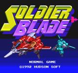 Soldier Blade TurboGrafx-16 Title screen