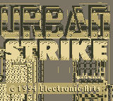 Urban Strike Game Boy Title Screen