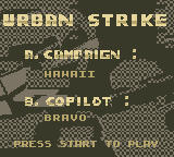 Urban Strike Game Boy Mission Setup