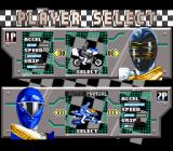 Saban's Power Rangers Zeo: Battle Racers SNES Driver selection.