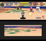 Saban's Power Rangers Zeo: Battle Racers SNES Gold Ranger's counter-shot-attack in Zeo Ranger 1 (Pink) is accurately performed: too bad for her...