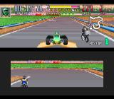 Saban's Power Rangers Zeo: Battle Racers SNES Zeo Ranger 4 (Green) attempts to take Gold Ranger's 1st position, when a speed energizer is found...