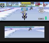 Saban's Power Rangers Zeo: Battle Racers SNES After 5 laps in the slippery curves of Ice Sheet 1, King Mondo wins a match against the Gold Ranger!