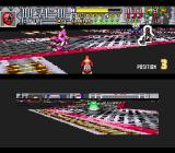 Saban's Power Rangers Zeo: Battle Racers SNES Unfortunately, Zeo Ranger 5 (Red) loses the balance and falls off the edge in Rangers Base 1 course.
