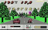 OutRun Europa Commodore 64 Level 1, on the motorbike
