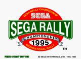 Sega Rally Championship SEGA Saturn The title screen of the Saturn version - right off the bat notice the odd resolution - 352x256!