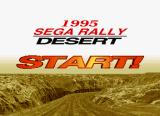 Sega Rally Championship SEGA Saturn The loading screen into the Desert area