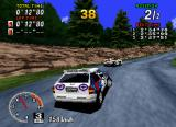 Sega Rally Championship SEGA Saturn When racing in Practice mode, both, your and your opponent's cars are well textured.