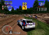 Sega Rally Championship SEGA Saturn The grass doesn't slow you down if you drive straight through it, but will make you spin out if you try drifting.