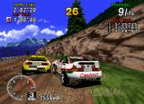 Sega Rally Championship SEGA Saturn Close encounters of the flat-shaded kind.