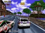 Sega Rally Championship SEGA Saturn Getting run off the road by the opponent.