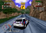 Sega Rally Championship SEGA Saturn Drifting on some mountain roads.
