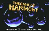 The Game of Harmony Commodore 64 Title screen (U.S.)
