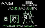 Axis Assassin Commodore 64 Title screen, with a choice of difficulty level