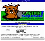 Gopher Squish! Windows 3.x Title screen