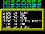 The Game of Harmony ZX Spectrum High scores