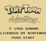 Tiny Toon Adventures: Babs' Big Break Game Boy Title Screen