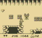 Tiny Toon Adventures: Babs' Big Break Game Boy Plucky in a cave
