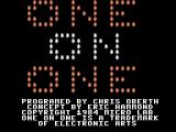 One-on-One ColecoVision Title screen.