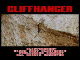 Cliffhanger SEGA CD Intro screen with running movie clip.