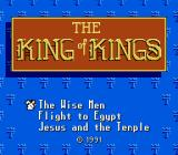 King of Kings: The Early Years NES Title screen and game selection