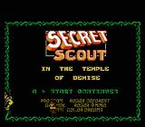 Secret Scout in the Temple of Demise NES Title screen and credits