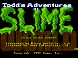 Todd's Adventures in Slime World Genesis Title
