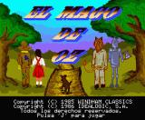 The Wizard of Oz MSX Title screen