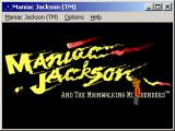 Maniac Jackson and the Moonwalking Mindbenders Windows Title screen