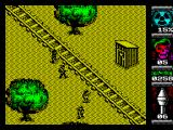 Komando II ZX Spectrum Territory 1 - there is a long track but no train within sight