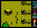 Komando II ZX Spectrum Territory 2 - fighting my way through a line of light trucks