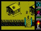 Komando II ZX Spectrum Territory 3 - somebody is throwing grenade from that house