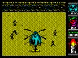 Komando II ZX Spectrum Territory 8 - finally found a helicopter that will take me home