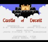 Castle of Deceit NES Title screen and credits
