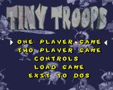 Tiny Troops Amiga Start menu