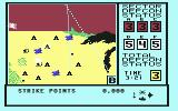 WarGames  Commodore 64 Map of sector B. I have incoming missiles and enemy planes.