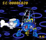 Air Zonk TurboGrafx-16 Super Invincible Bazooka Bonk can easily take this first boss.